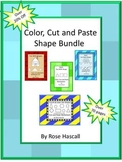 Shapes-Color, Cut and Paste Printable Counting Addition Su
