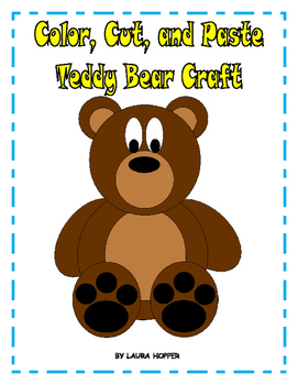 Color, Cut, and Paste Teddy Bear Craft