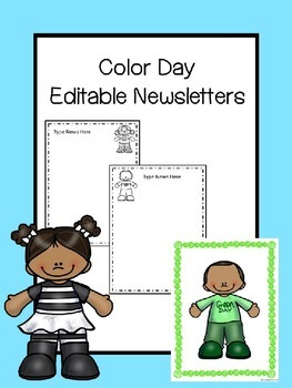 Color Day Editable Newsletters