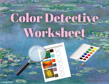 Color Detective Painting Worksheet