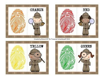 Color Matching Cards with Detectives