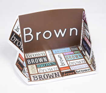 Color Display Case: Brown