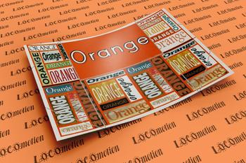 Color Display Case: Orange