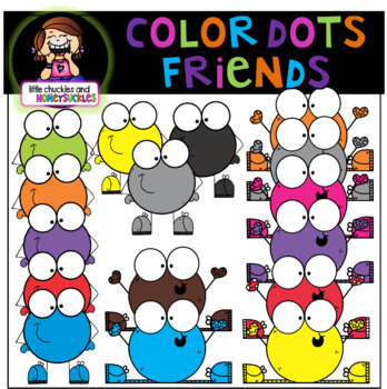 Color Dots Clipart - Clipart for color naming