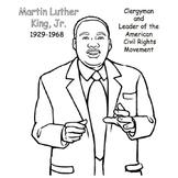 Color Dr. Martin Luther King, Jr.