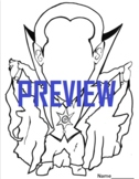 Color Dracula Halloween Falloween Coloring Page Missing Fa
