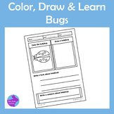 Color Draw and Learn Bugs Doodle Notes Activity Pages