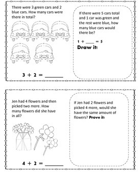 Color, Draw and Solve Addition Word Problem Mini Book