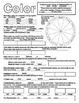 Color (Element of Art/Design) Worksheet (USA spelling)
