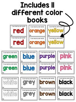 Color Emergent Reader Book Set