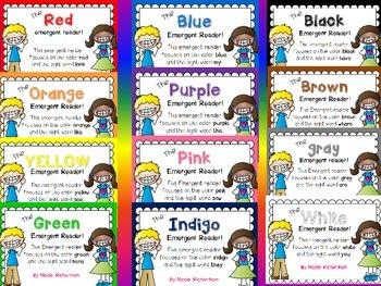 Color Emergent Readers! The BUNDLE!