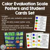 Color Evaluation Scale Posters and Student Cards Set-Rubri