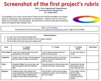 Color Evaluation Unit - Assignments, unit plan, projects, quiz, and powerpoints