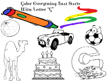 Color Everything that starts with this Alphabet