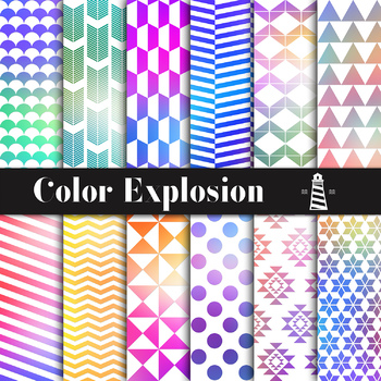 Color Explosion Digital Paper