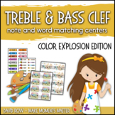 Treble Clef & Bass Clef Note Matching Centers - Color Expl