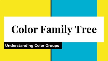 Color Family Tree Activity