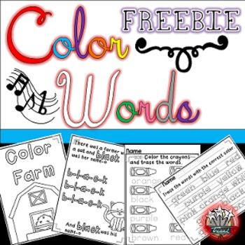 FREE Color Farm Song Book:  Color Words Activities