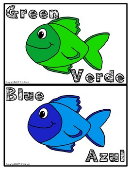 Color Fish Spanish and English