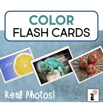 Color Flash Cards - Real Photos!