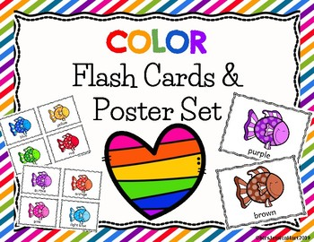 Color Flash Cards and Poster Set