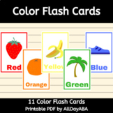 Color Flash Cards - by AllDayABA