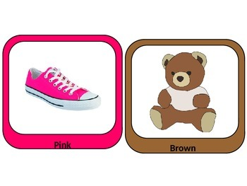 Color Flash Cards for Toddler and Preschool Age!