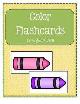 Color Flashcards - Back To School Assessment Tool
