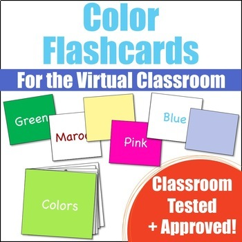 Color Flashcards for the Virtual ESL Classroom - Virtual Classroom Props