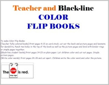Color Flip Books Easy Readers