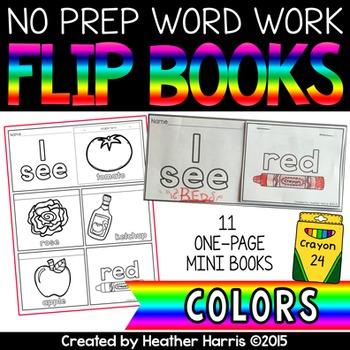 Color Flip Books- no prep mini books