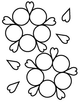 Color Flower Match File Folder Activity (Black & White Version)