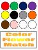 Flower Color Match File Folder Activity (Color Version)
