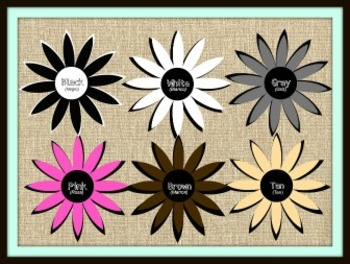 Color Flowers (with Spanish color names)