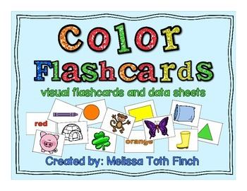 Color Fluency Flashcards- Visual Flashcards and Data Sheets