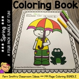 Spring Coloring Pages - 143 Pages of Spring Fun - Four Pack Coloring Book Bundle