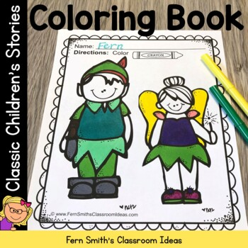Coloring Pages for Classic Children Stories - 44 Page Coloring Book Fun
