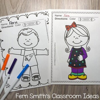 Coloring Pages of Cute Kids