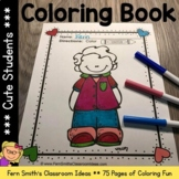 Back to School Coloring Pages of Cute Students - 75 Page C