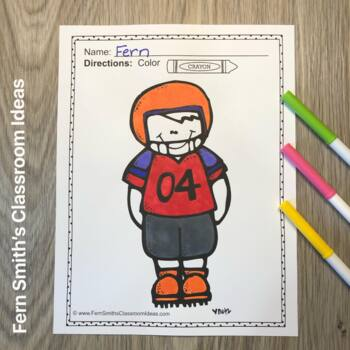 Coloring Pages For Some Football and Cheerleading Fun Freebie