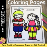 Fall Coloring Pages Football and Cheerleading Freebie