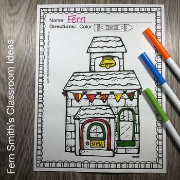 Back to School Coloring Pages and Apples Coloring Pages Bundle