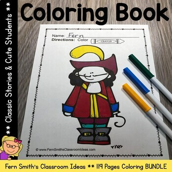 Classic Stories Coloring Pages and Cute Kids Coloring Pages Bundle