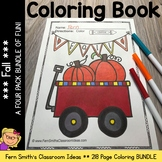 Coloring Pages for Fall A Four Pack Color For Fun Bundle