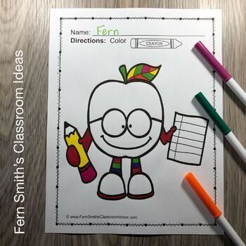 Fall Coloring Pages and Apples Coloring Pages Bundle