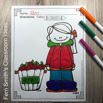 Fall Coloring Pages and Farm Coloring Pages Bundle