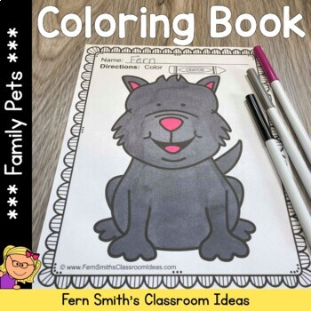Coloring Pages of Family Pets