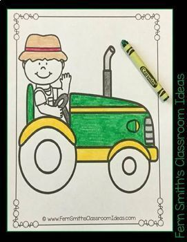 Farm Coloring Pages and Apples Coloring Pages Bundle