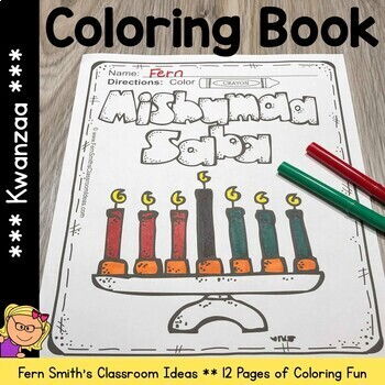 Kwanzaa Coloring Pages Worksheets Teaching Resources Tpt