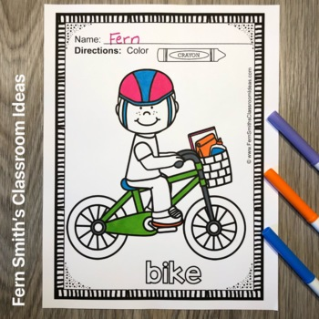 Long Vowels Coloring Pages